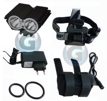 gelectron lampe forte intensit sur batterie 2000 lumens s 39 by bikes. Black Bedroom Furniture Sets. Home Design Ideas
